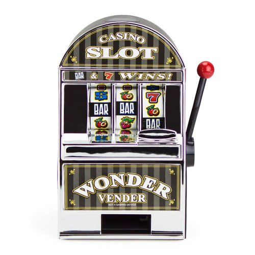 Bars and Sevens Slot Machine Bank with Spinning Reels - 1