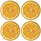 Zak Designs Espalier 8-Inch Melamine Salad Plate w/ Orange Slice Design 4 Piece- Great Dinnerware for Adults or Children