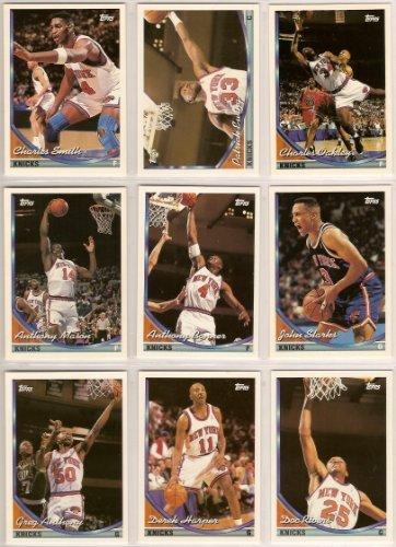 New York Knicks 1993-94 Topps Basketball Team Set …