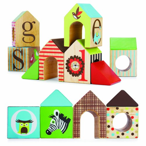 Skip Hop Alphabet Zoo ABC House Blocks