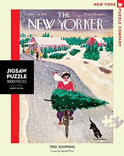 New York Puzzle Company - New Yorker Tree Shopping - 1000 Piece Jigsaw Puzzle (New York Puzzle Company 1000 compare prices)