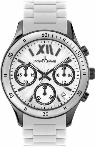 Jacques Lemans Women's 1-1587T Rome Sports Sport Analog Chronograph with Silicone Strap Watch