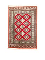 QURAMA Alfombra Kashmir Rojo/Multicolor 147 x 94 cm