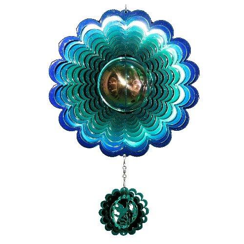 Next Innovations GBHUMMIB/G PB Hummingbird Gazing Ball, Blue and Green