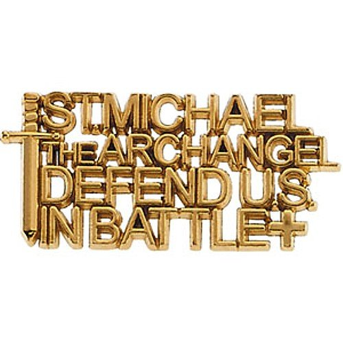 14K Yellow Gold St. Michael Lapel Pin