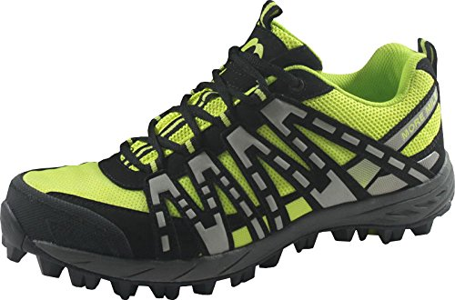 More Mile, Scarpe da Trail Running uomo, Nero (Black / Fluo Yellow), 42.5