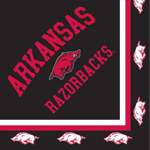 Creative Converting Arkansas Razorbacks Luncheon Napkins (20 Count)