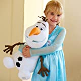 "Disney Store Large/Jumbo 22"" Olaf the Snowman Plush Stuffed Toy Doll from Frozen"