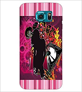 PrintDhaba Abstract Design D-5668 Back Case Cover for SAMSUNG GALAXY S6 EDGE (Multi-Coloured)