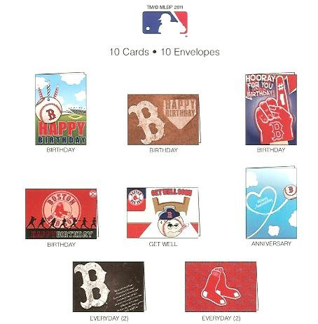 Boston Red Sox Greeting Cards Variety 10 Pack