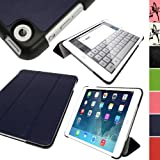 IGadgitz Blue PU Leather with Hard Back 'Cover Mate Plus' Case for Apple iPad Mini 1st Generation 2012 & New iPad Mini 2nd Generation with Retina Display (launched October 2013) 16GB 32GB 64GB 128GB Wi-Fi & Cellular. With Sleep/Wake Function + Screen Pro