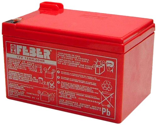 Imagen principal de FEBER Battery 12V 12Ah - Batería/Pila recargable (12000 mAh, Toy, 12 V), funciona también para 12 V 10 Ah