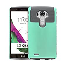 buy Lg G4 Case, Sophia Shop 2In1 Drop Protection Dual Layer Heavy Duty Hybrid Armor Rugged Hard Protective Case Cover For Lg G4(Aqua+Grey)