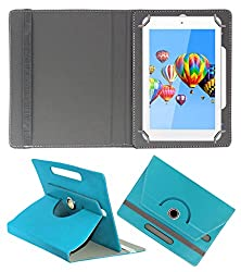 ACM ROTATING 360° LEATHER FLIP CASE FOR DIGIFLIP PRO ET701 TAB TABLET STAND COVER HOLDER GREENISH BLUE