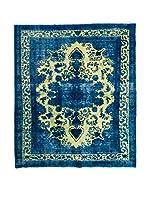 CarpeTrade Alfombra Persian Vintage (Azul/Amarillo)