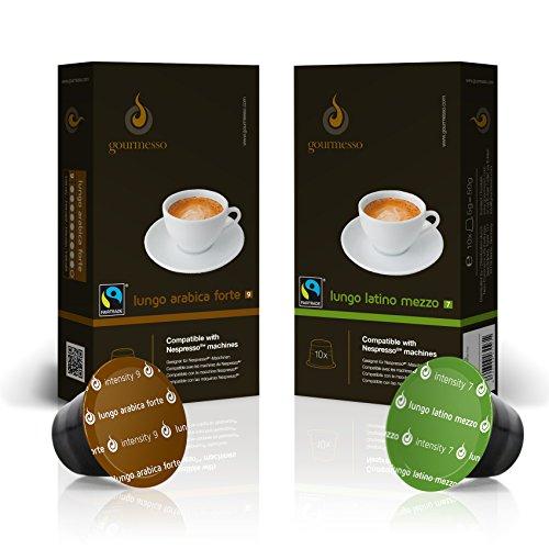 gourmesso lungo box 100 nespresso kompatible kaffeekapseln. Black Bedroom Furniture Sets. Home Design Ideas