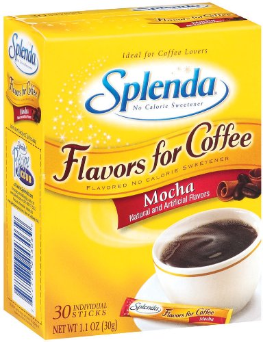 Splenda No Calorie Sweetener, Flavor for Coffee, Mocha, 30-Count Boxes (Pack of 6)