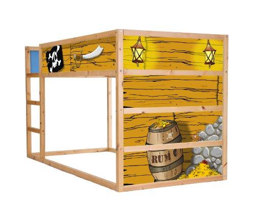 piraten m belsticker aufkleber f r das hochbett kura von. Black Bedroom Furniture Sets. Home Design Ideas
