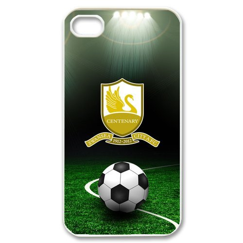 Josephine Licensed Football Series Swansea City FC Silicone Rubber Protector Case for iPhone 4 4s