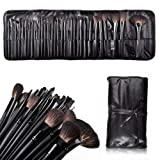 Charmoee 32 Pcs Black Rod Makeup Brush Cosmetic Set Kit With Case