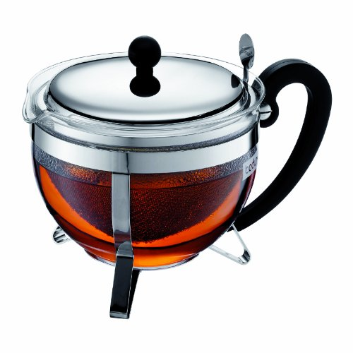 Bodum 1921-16-6 Chambord Tea Pot, 44 oz, Chrome (Chambord Teapot compare prices)