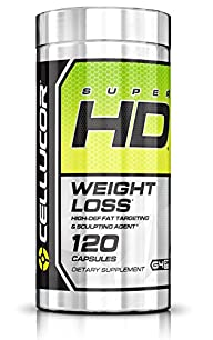 Cellucor Super HD Thermogenic Fat Burner Supplement for Weight Loss, 120 Capsules