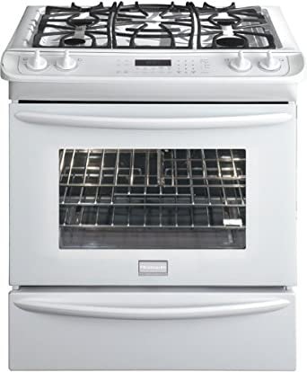 "Frigidaire FGGS3065KW Premier 30"" Slide-In Gas Range with Quick Preheat and True Convection, White"
