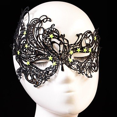 ANDP Fashion Star Swan Pattern Lace Party Mask