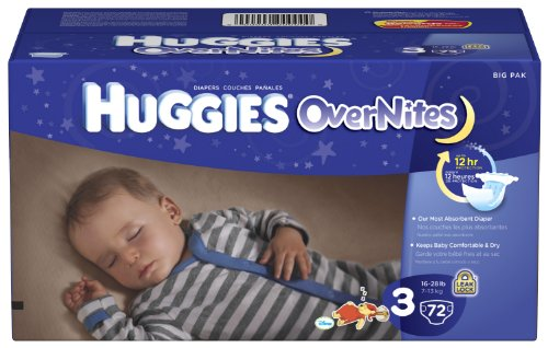 Huggies OverNites Diapers Size Count