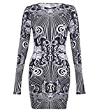 Jzoeoeu Women's Designer Bodycon Casual Sheath O-neck Long Sleeve Vintage Dress