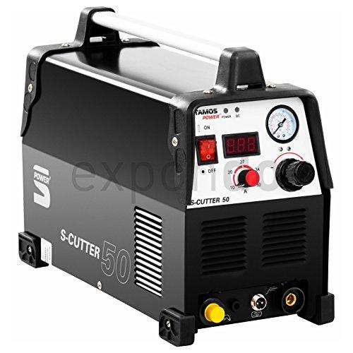 Stamos-Power-S-CUTTER-50-Plasmaschneider-Schneidstrom-bis-50-Ampere-Schneidleistung-von-12-mm-60-Einschaltdauer-stufenlos-einstellbarer-Schneidstrom-HF-Zndung