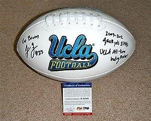 Johnathan Franklin Signed CAREER STATS UCLA Football RookieBall R22166 - PSA DNA... by Sports+Memorabilia
