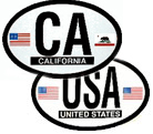 US and State Oval Decals