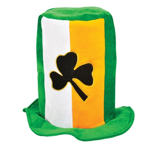 Irish Tri Color Tall Stove Pipe Hat Case Pack 12