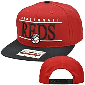 MLB American Needle Nineties Twill Hat Cap Snapback Flat Bill Cincinnati Reds by American Needle