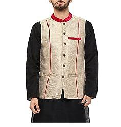 Yepme Men's Gold Blended Nehru Jackets - YPMNJKT0037_S