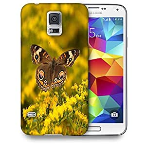 Snoogg Multicolor Flying Butterfly Printed Protective Phone Back Case Cover For Samsung S5 / S IIIII