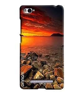 Omnam Sea Side With Sun Rise Effect Beautiful Printed Designer Back Cover Case For Xiaomi Mi4i