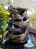 Fontaine de Table Cascade Hayal 3 Niveaux avec Lumières - Ambienté