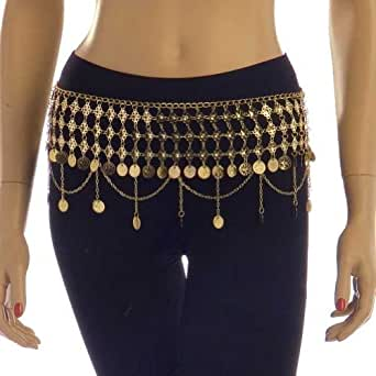 Belly Dance Accessories Coin Belt (Silver/Gold) - R2 - Cleopatra II