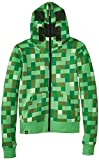 Minecraft Creeper Premium Zip-Up Youth Hoodie, Green, Youth Large