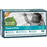 Seventh Generation Touch of Cloth Diapers, Size 1, 80 Count
