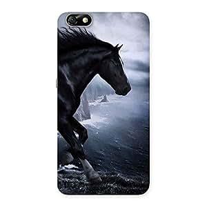 Impressive Premier Black Horse Back Case Cover for Honor 4X