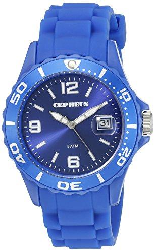 Cepheus - CP603-033-1 - Montre Homme - Quartz Analogique - Bracelet Silicone Bleu