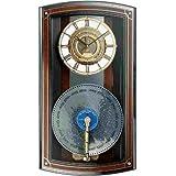 シチズン プライムオルガニート 掛け時計 茶色高級光沢仕上 4MH848RH06