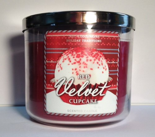 Bath Body Works Red Velvet Cupcake 3-Wick Scented Candle (Red Velvet Cake Candle compare prices)