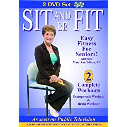 Sit and Be Fit: Osteoporosis and Brain Workouts 2 DVD Set