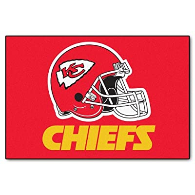 FANMATS NFL Kansas City Chiefs Nylon Face Starter Rug
