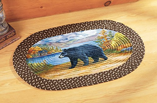 Northwoods Alpine Bear Braided Rug