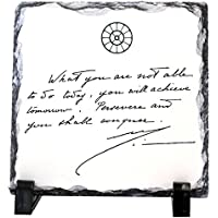"""Souvenir: """"what You Are Not Able To Do Today ..."""" The Mother's Quote In Facsimile Printed On Stone"""